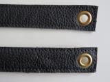Tashengsels echt leer messing ringen in 5 lengtes met zeilring in 15 kleuren_
