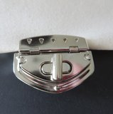 Tasslot nikkel draaislot 5,5 cm_
