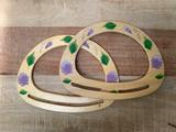 Bewerkte houten tashengsels_