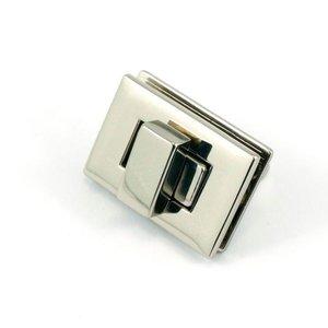 Tasslot nikkel sluiting 3,5 cm x 2,5 cm Nieuw