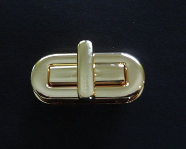 Tasslot langwerpig goudkleurig 4  cm x 1,7 cm Nieuw