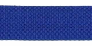 Tassenband 2,5 cm kobalt zware kwaliteit
