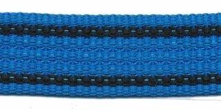 Tassenband 2,5 cm kobalt/zwart zware kwaliteit