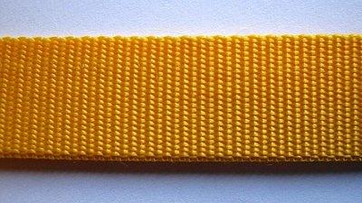 Tassenband 2,5 cm okergeel zware kwaliteit
