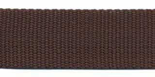 Tassenband 2,5 cm bruin zware kwaliteit