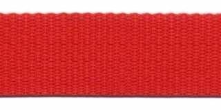 Tassenband 2,5 cm rood zware kwaliteit