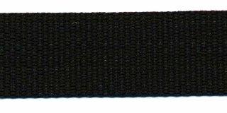 Tassenband 3 cm zwart zware kwaliteit