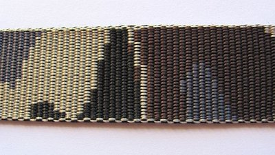 Tassenband 3 cm camouflage dubbelzijdig