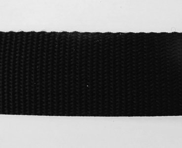 Tassenband 4 cm zwart zware kwaliteit
