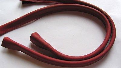 Tashengsels echt leer donkerrood in 5 lengtes