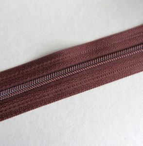 Rits van de rol 6 mm donkerbruin per meter