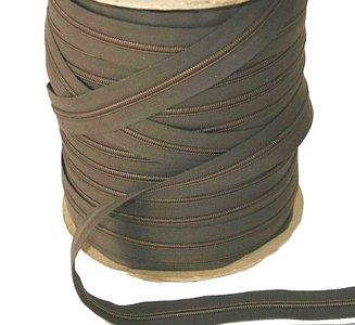 Rits van de rol 6 mm taupe per meter