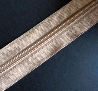 Rits van de rol 6 mm beige per meter