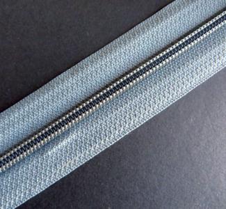 Rits van de rol 6 mm grijs per meter