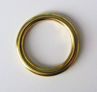 Ring messing 36 mm doorvoer 26 mm.Geschikt voor 1,5 cm breed band