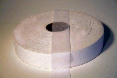 Vlieselineband 4 cm breed opstrijkbaar wit