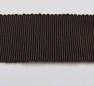Hoedenband - Ribsband bruin 2 cm