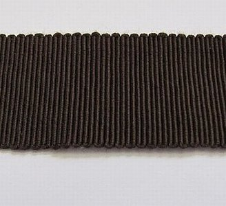Hoedenband - Ribsband bruin 2,5  cm