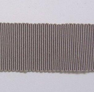 Hoedenband - Ribsband grijs 2,5  cm