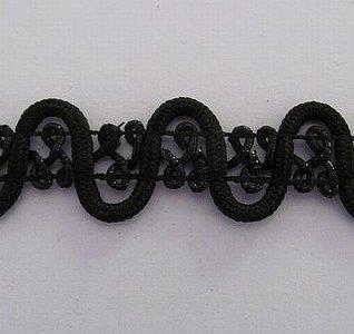 Sierband zwart 2 cm