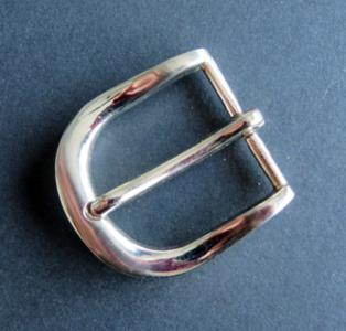 Gesp zilverkleur doorvoer 30 mm