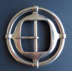Gesp zilverkleur Keltische doorvoer 40 mm