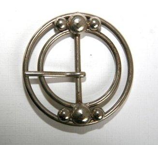 Gesp zilverkleur vaste passant doorvoer 40 mm