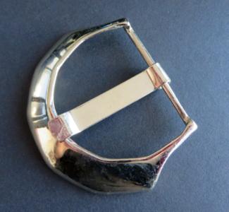 Gesp zilverkleur zware gesp doorvoer 55 mm