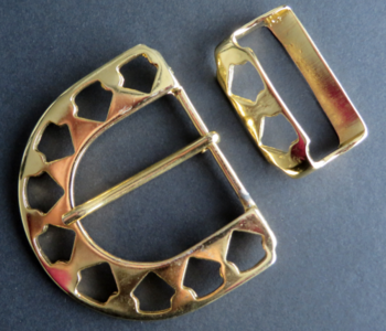 Gesp goudkleur doorvoer 40 mm