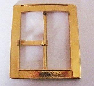 Gesp goudkleur doorvoer 60 mm