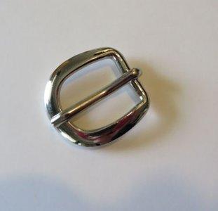 Gesp zilverkleur lengte 2,8 cm doorvoer 15 mm