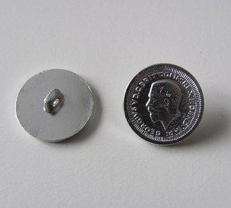 Muntknoop 1,8 cm kleur zilver