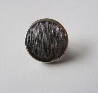 Zilverkleurige knoop 1,4 cm