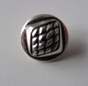 Bewerkte knoop zilver metaal 1,8 cm