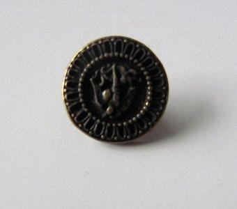 Bronskleurig bewerkt knoopje 2 cm
