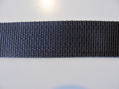 Tassenband 2,5 cm antraciet grijs zware kwaliteit