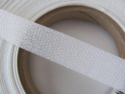 Stug verstevigingsband een kant opstrijkbaar 2 cm voor o.a. tas schouderbanden