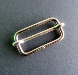 Doorschuifgesp nikkel doorgang 3 cm