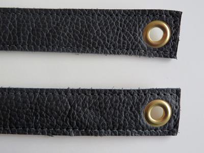 Tashengsels echt leer messing ringen in 5 lengtes met zeilring in 15 kleuren
