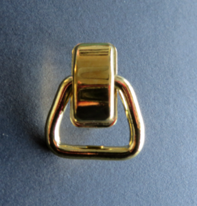Handvatbevestiger messing 35 mm doorgang 20 mm