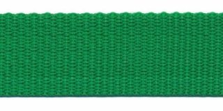Tassenband  2,5 cm grasgroen zware kwaliteit