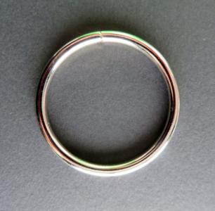 Ring 50 mm doorgang 40 mm verchroomd geschikt voor 4 cm breed band