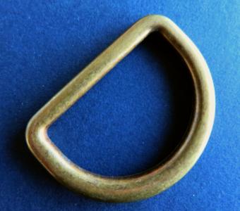 D ring brons 50 mm doorvoer 40 mm gelast