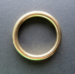 Ring messing 27mm binnenmaat 20 mm gelast