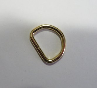 D ring messing 28 mm doorgang  20 mm voor 2 cm breed band
