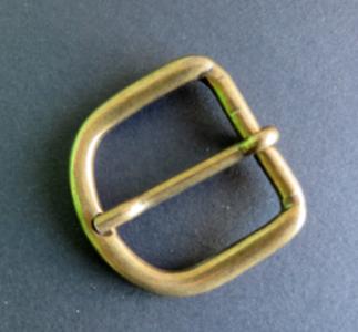 Gesp brons doorvoer 3 cm