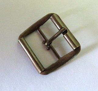 Gesp brons doorvoer 25 mm