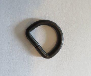 D ring zwart 29 mm doorgang 20 mm