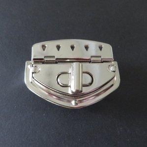 Tasslot nikkel draaislot 5,5 cm