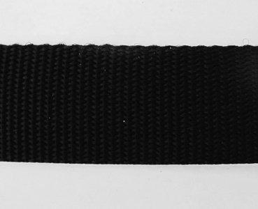 Tassenband 1,3 cm zwart zware kwaliteit